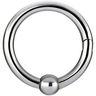 Hinged 2.0mm Ball Closure Stahl Ring - handpoliert