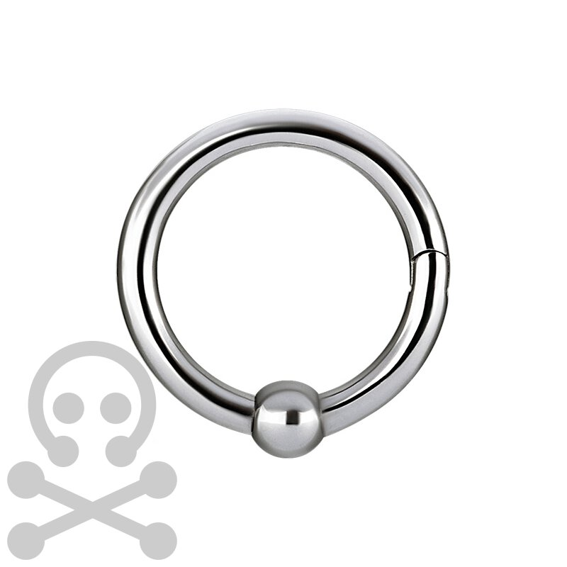 Hinged 4.1mm Ball Closure Stahl Ring - handpoliert