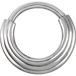 Hinged Ring 1.2mm 3Ringe concave shape - handpolished