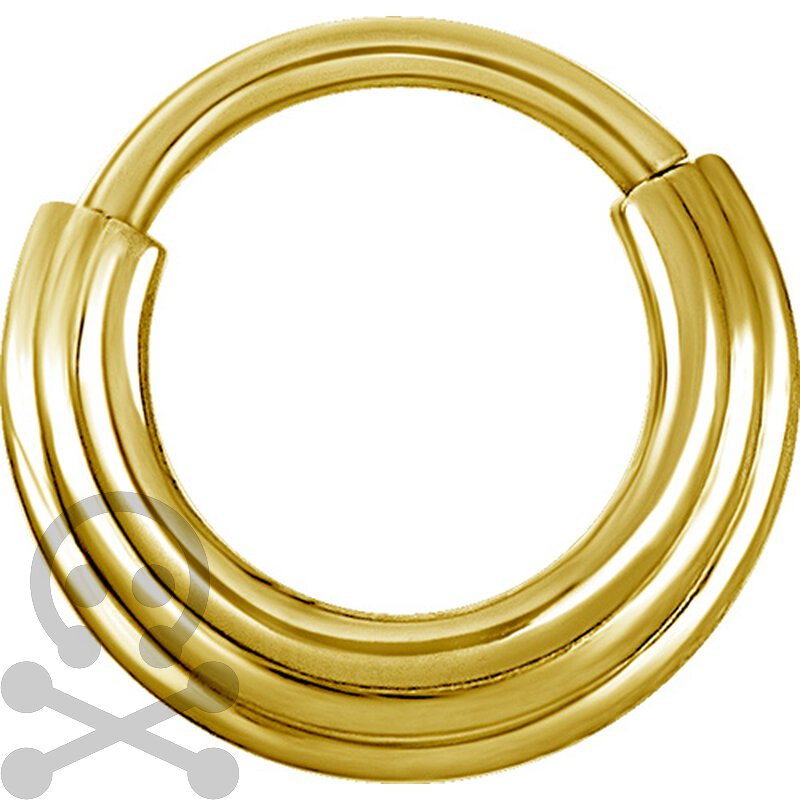 Ring gold  Hinged Ring Gold 1.2mm 3Ringe stufenweise, 13,90 € - Trust Whole