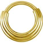 Hinged Ring Gold 1.2mm 3Ringe stufenweise