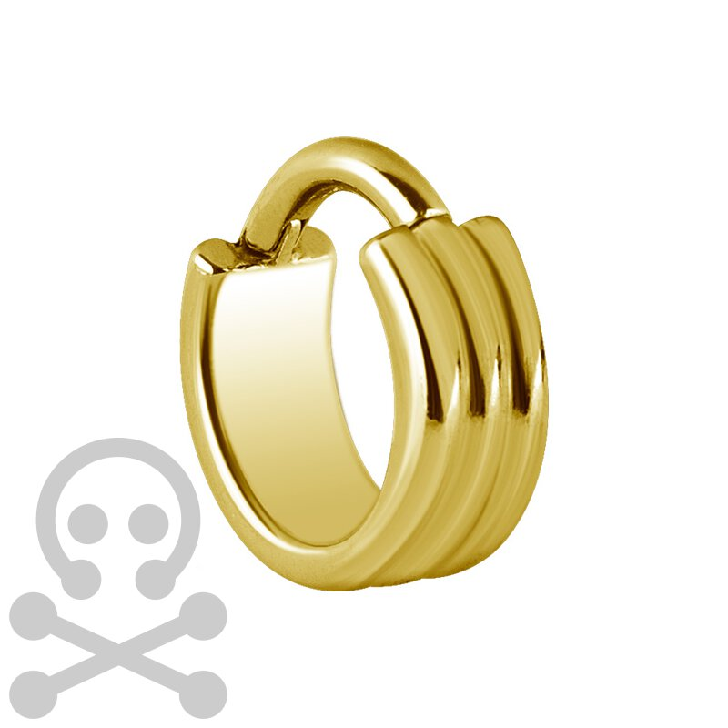 Hinged Ring 1.2mm 3Ringe, Gold Steel
