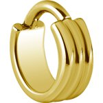 Hinged Ring 1.2x7mm A - 3Ringe, Gold Steel