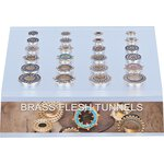 Acrylic Display for Brass Flesh Tunnels (24 pc.)