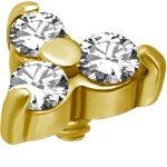 Int. Gold Stahl Aufsatz 01 WH-  für 1.2mm...