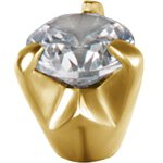 Stahl Ball Gold 1.6mm mit Cubic Zirconia