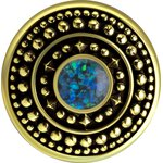 Brass Ear Weight with synthetic Opal 19.3gr #16