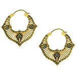 Tribal Brass Hoops #03OP (23.2gr/Pair)