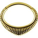 Gold PVD #03 Hinged 1.2mm Septum und Daith Clicker