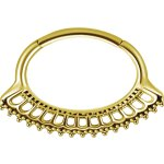 Gold PVD #10 1.2x6mm Hinged Septum und Daith Clicker