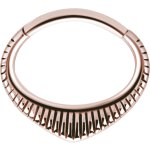 Rosegold PVD #03 1.2x6mm Hinged Septum und Daith Clicker