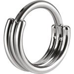 Titan 1.2mm Hinged Ring (3 Ringe) - handpoliert