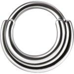 Titan 1.2mm Hinged Ring (3 Ringe Concave Shape)