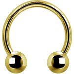 Gold PVD Internal Circular Titan Barbell 1.2mm mit...