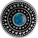 Stahl Ohrgewicht mit synthetischem Opal 17gr #16