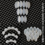 SH Silicon Bead Pearls - Oval - 3, 4 oder 6