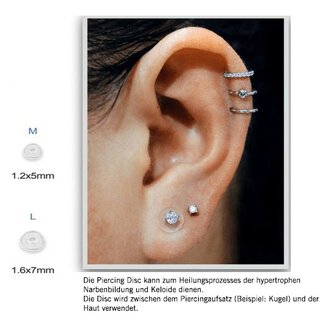 Medical Silikon Piercing Discs