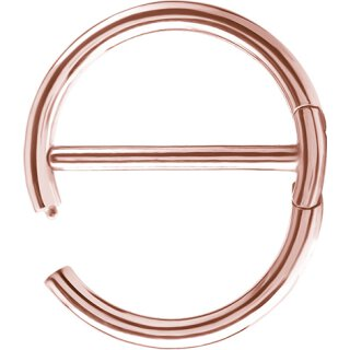 Rosegold Stahl 1.6mm, Double Hinge Nipple Clicker Ring