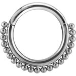 Titan 1.2mm Hinged Segment Ring #24 - handpoliert