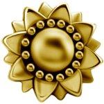 Int. Gold Steel Att. 36L -  for 1.2mm Barbell/Labret/Mini-DA