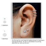 Sterile Medical Silikon Piercing Discs 2 Stück