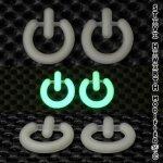 SH Silicon Glow in the Dark Power Button