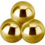 Int. Gold Steel Att. 30 -  for 1.2mm Barbell/Labret/Mini-DA