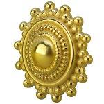 Gold PVD Stahl Motiv Att. 51 Tribal, 1.6mm