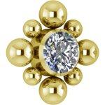 Gold PVD Titanium Cluster Internal Micro #12 Att. set w...
