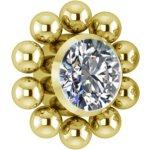 Gold PVD Titanium Cluster Internal Micro #13 Att. set w...