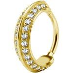 Jew. Hinged Ring/Clicker 1.2mm w Zirconia from Swarovski®...