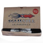 Squidster Piercing 50er Box - schwarz DUO (BK) -...