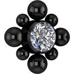 Black PVD Titan Cluster Internal Micro #12 Aufsatz...
