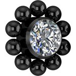 Black PVD Titanium Cluster Internal Micro #13 Att. set w...