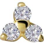 18K Gold Attachm. #09 Jew. Trinity mit Premium Zirconia...