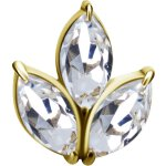 18K Gold Attachm. #06 Jew. w Swarovski® Zirconia for...