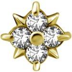 18K Gold Internal Attachm. #17 mit Premium Zirconia für...