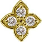 18K Gold Internal Attachm. #19 w Swarovski® Zirconia for...
