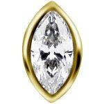 18K Gold Internal Attachm. #24 w Swarovski® Zirconia for...