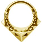 Tribal 1.2mm Clicker, PVD Gold Stahl