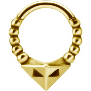 Tribal Look 1.2mm Clicker, PVD Gold Stahl
