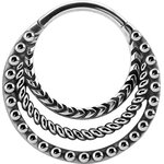 Tribal Look Plain Clicker 1.2mm - handpoliert - Stahl