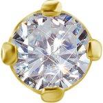 18K Gold Attachm. Jew. mit Lab Created Diamonds für 0.5mm TL