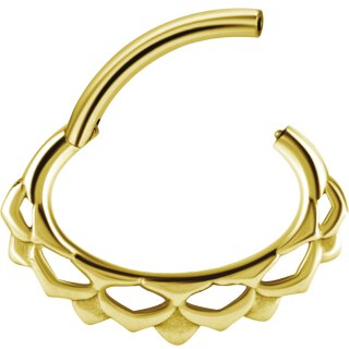 Gold PVD #09 Hinged Septum und Daith Clicker