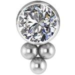 Titanium Clip In #07 Clusters set w Swarovski® Crystals