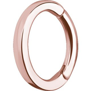 Rosegold PVD Stahl Rook Oval Hinged Clicker 1.2mm - OHC02RG - kantiges Profil