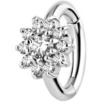 Nickelfree Belly Hinged Oval Ring #10 1.6mm, w Premium...