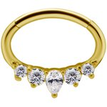 18K Gold Jew. Septum and Daith Ring/Clicker #14 1.2mm w...