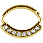 18K Gold Jew. Septum and Daith Ring/Clicker #01 1.2mm w...