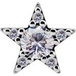 Nickelfree Attachm. Jew. w Star Swarovski® Zirconia for...